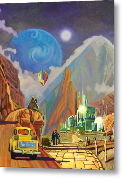 Honeymoon In Oz Metal Print