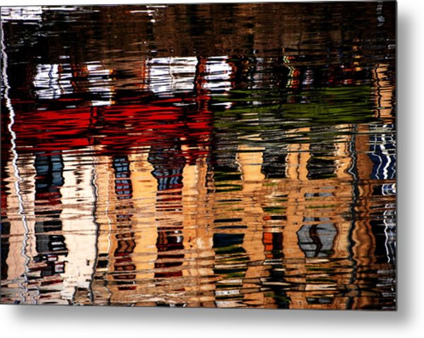 Honfleur Abstract Metal Print by Jacqueline M Lewis