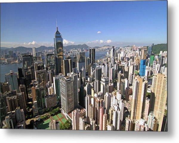 Hong Kong Causeway Bay Metal Print by Lars Ruecker
