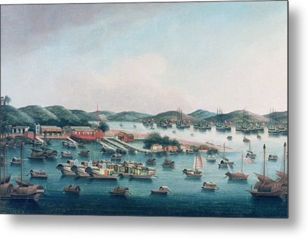 Hong Kong Harbor Metal Print