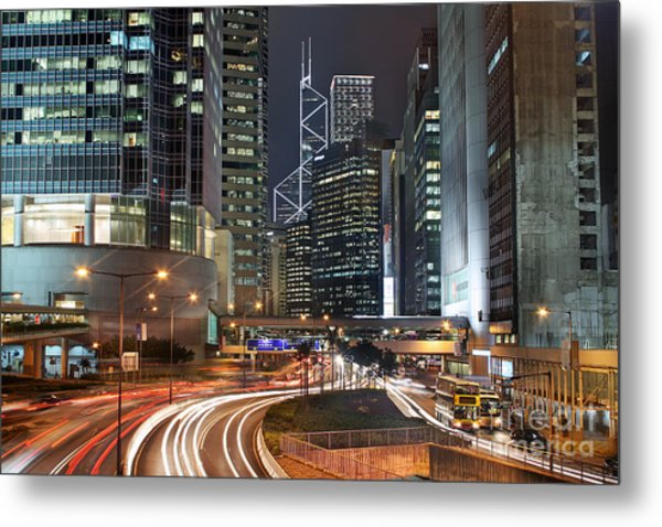 Hong Kong Rush Hour Metal Print by Lars Ruecker