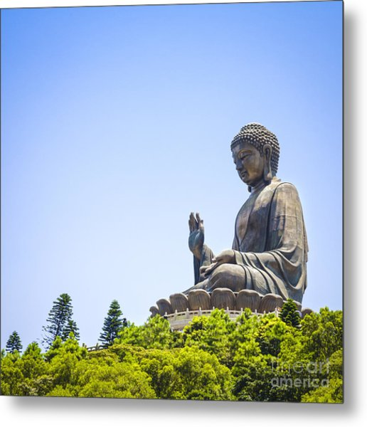 Hong Kong The Giant Buddha Metal Print