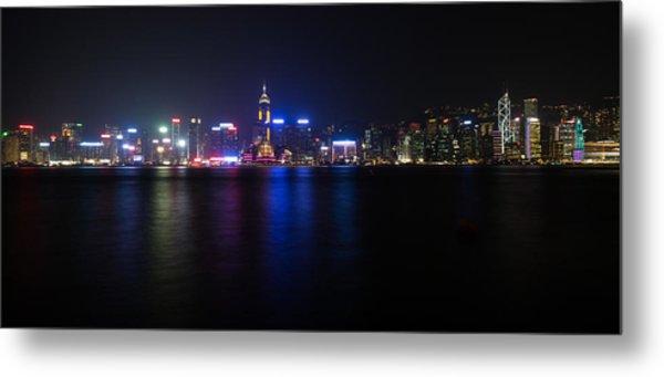 Hong Kong Waterfront Metal Print