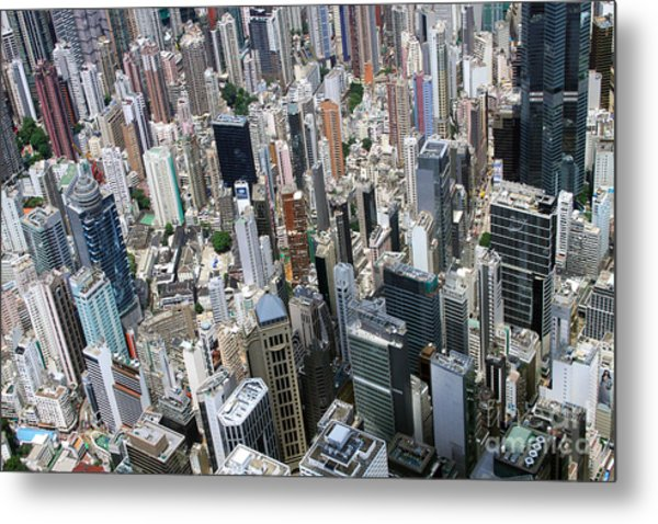 Hong Kong's Density Metal Print by Lars Ruecker