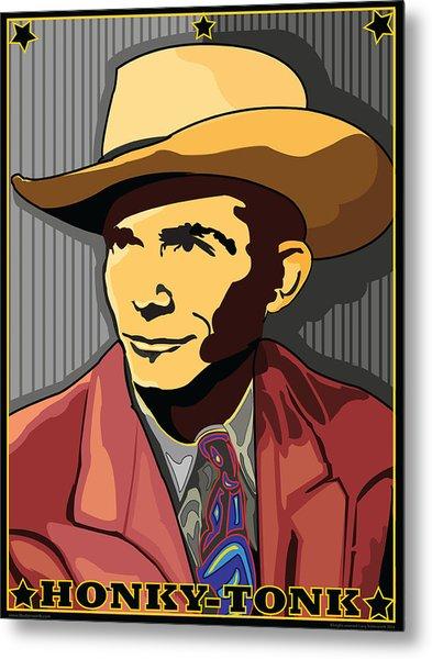 Honky Tonk Hank Williams Metal Print by Larry Butterworth