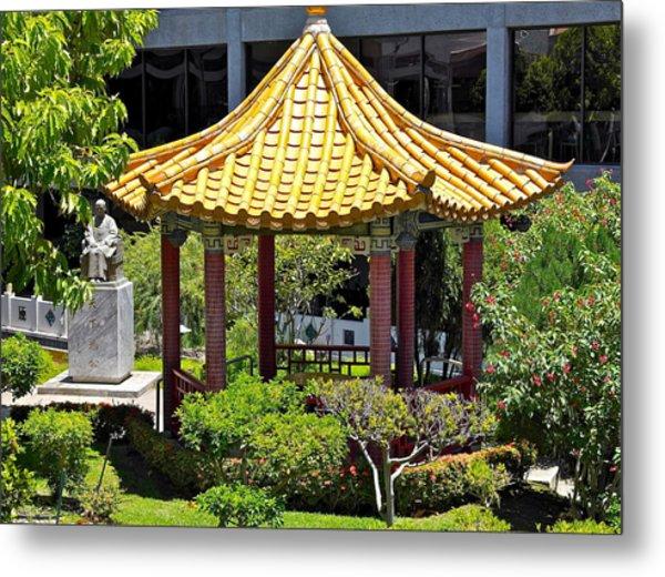 Honolulu Airport Chinese Cultural Garden Metal Print