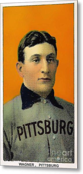 Honus Wagner Baseball Card 0838 Metal Print