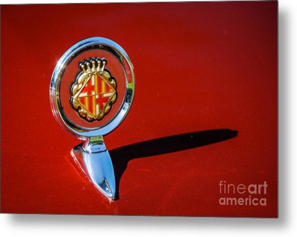 Hood Ornament On Matador Barcelona II Coupe Metal Print