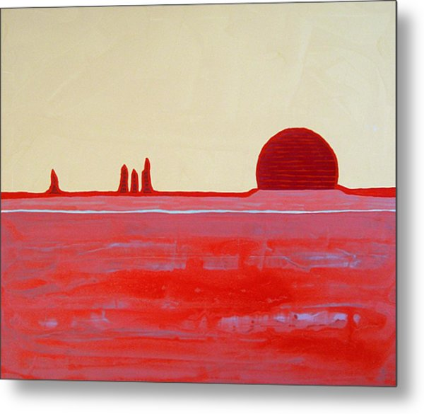 Hoodoo Sunrise Original Painting Metal Print