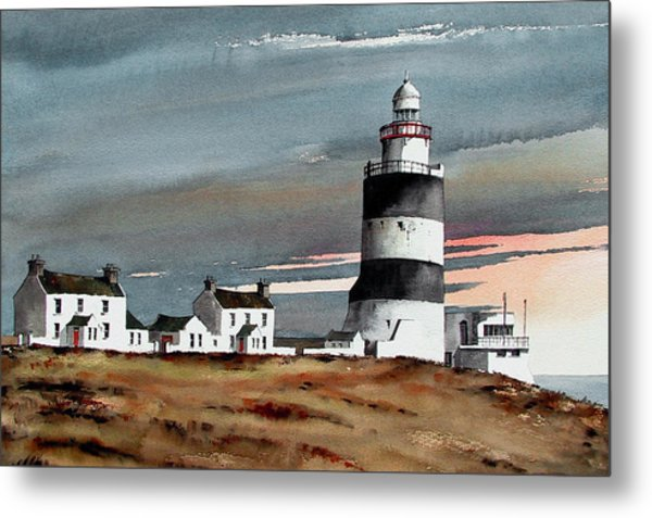 Hook Lighthouse Wexford Metal Print