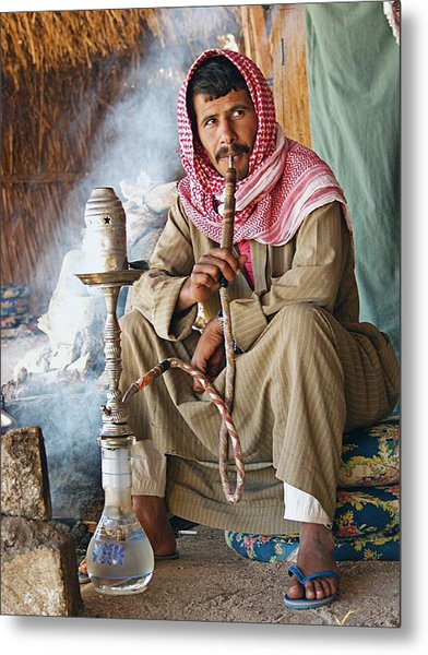 Hookah Smoker Metal Print by Science Photo Library