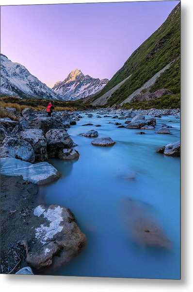 Hooker River, Mount Cook National Park Metal Print by By Arief Rasa