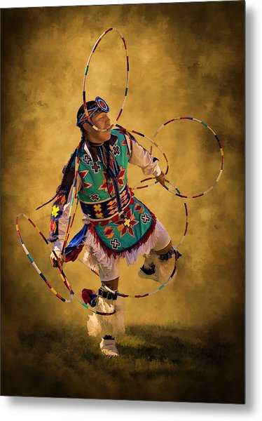 Hooping His Heart Out Metal Print