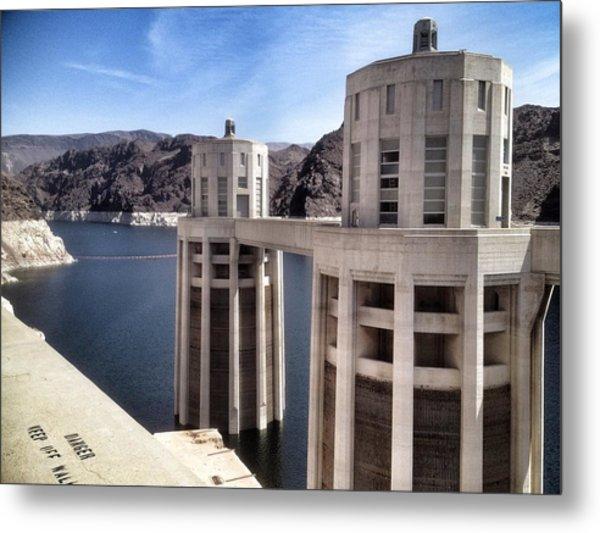 Hoover Dam Metal Print by Derek Conley