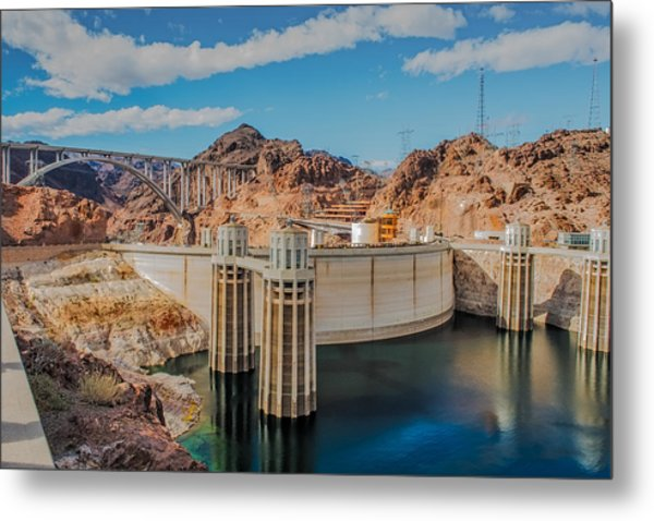 Hoover Dam Reservoir Metal Print