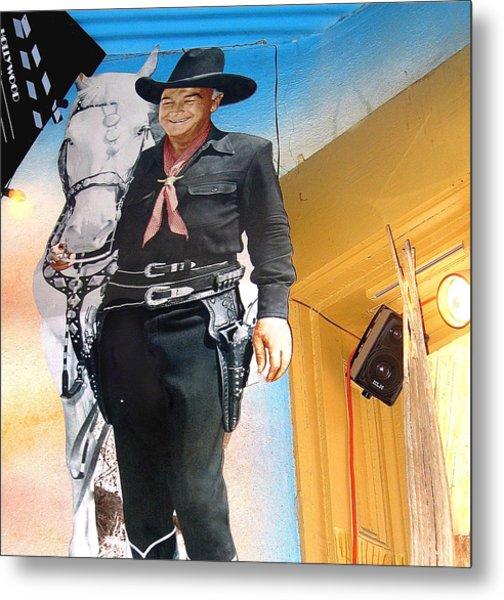 Hopalong Cassidy Cardboard Cut-out Tombstone Arizona 2004 Metal Print