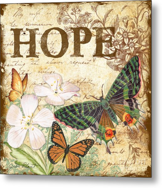 Hope And Butterflies Metal Print