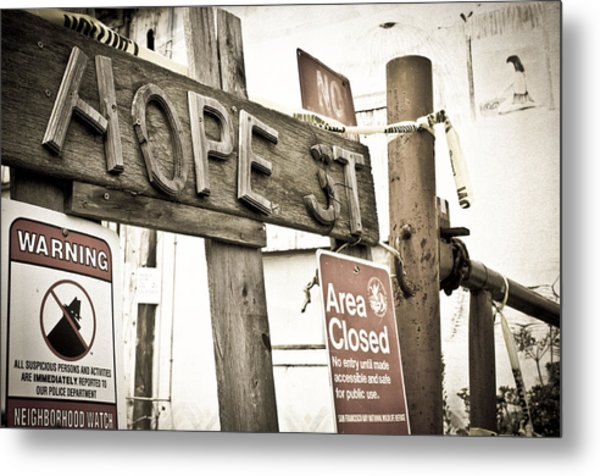 Metal Print featuring the photograph Hope Street by Priya Ghose