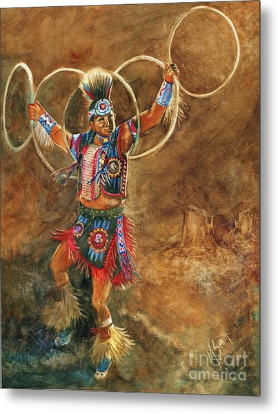 Hopi Hoop Dancer Metal Print