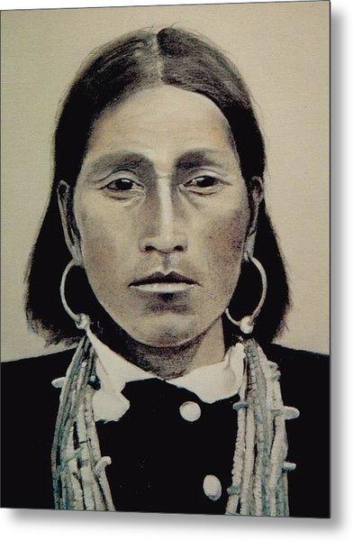 Hopi Woman Of The First Light Metal Print