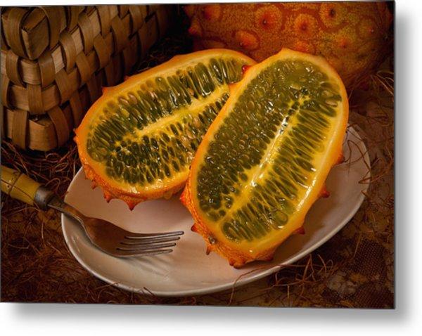 Horned Melon0541 Metal Print