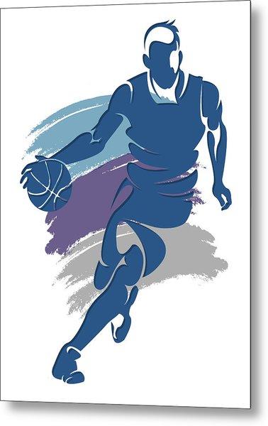 Hornets Basketball Player1 Metal Print