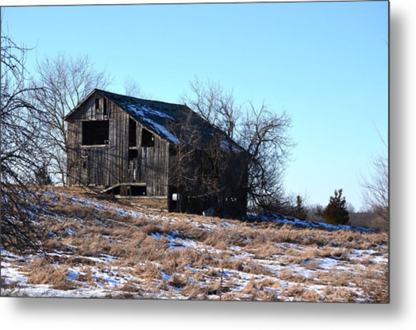Horning Road Barn Metal Print by Jennifer  King