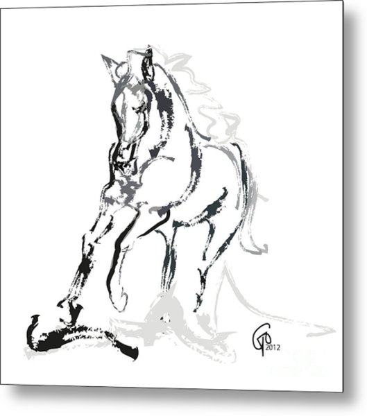 Horse- Andalusian Angel Metal Print