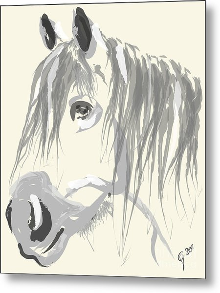 Horse- Big Jack Metal Print