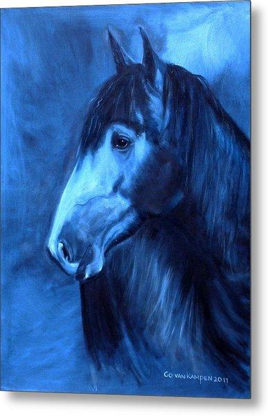 Horse - Carol In Indigo Metal Print