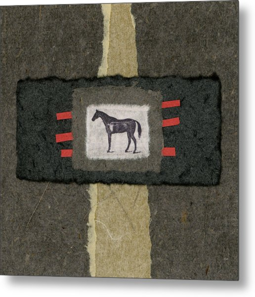Horse Collage Metal Print