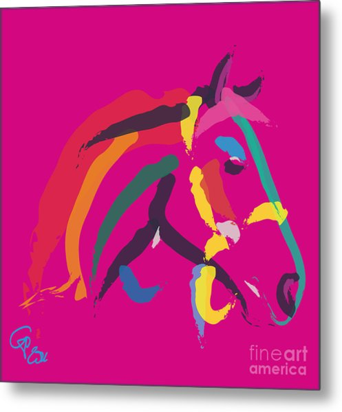 Horse - Colour Me Strong Metal Print
