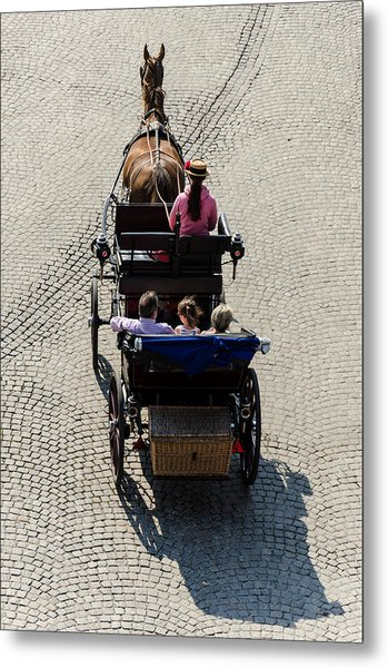 Horse Drawn Carriage Metal Print