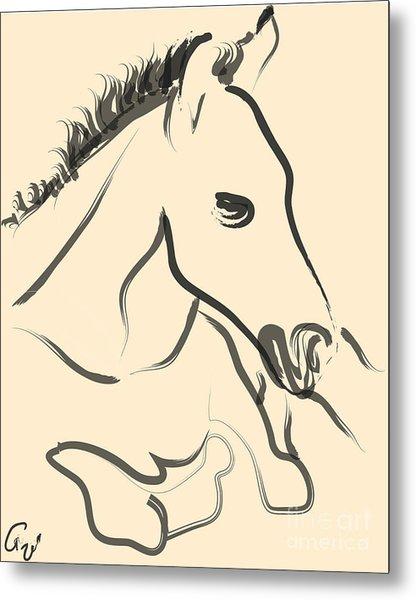 Horse-foal-pure Metal Print