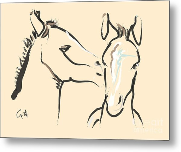 Horse-foals-together 6 Metal Print