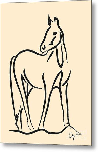 Horse - Grace Metal Print