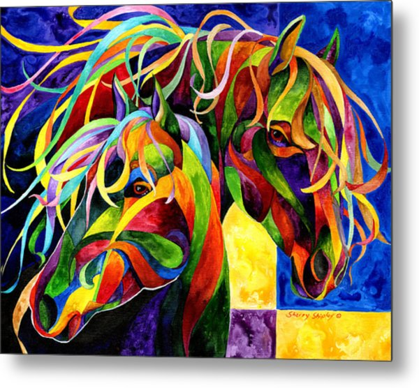 Horse Hues Metal Print