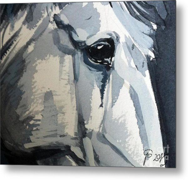 Horse Look Closer Metal Print