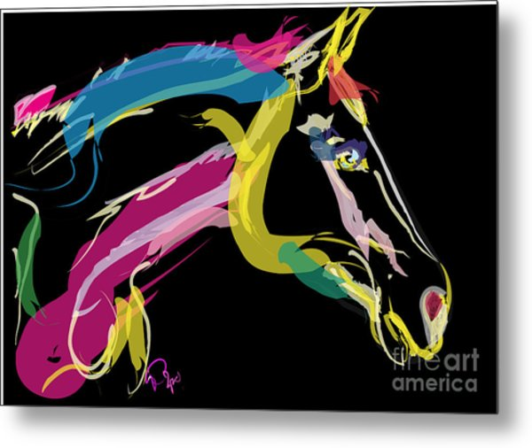 Horse- Lovely Colours Metal Print