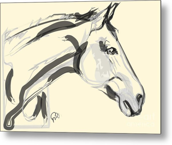 Horse - Lovely Metal Print