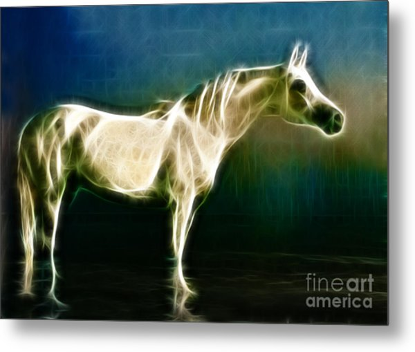 Horse Of Light Metal Print by Jo Collins
