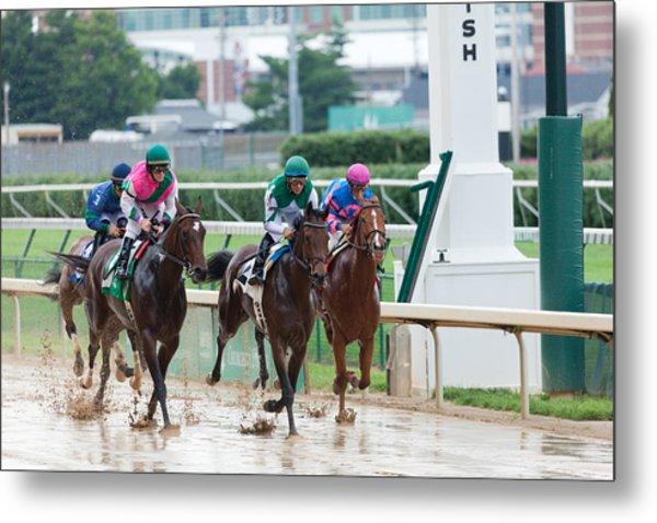 Horse Races At Churchill Downs Metal Print