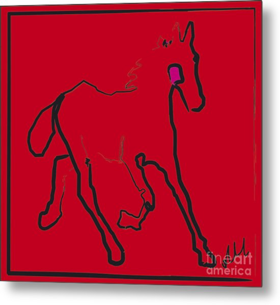 horse - Red filly Metal Print