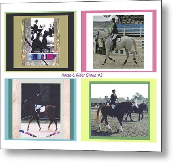 Horse Rider Group 2 Metal Print