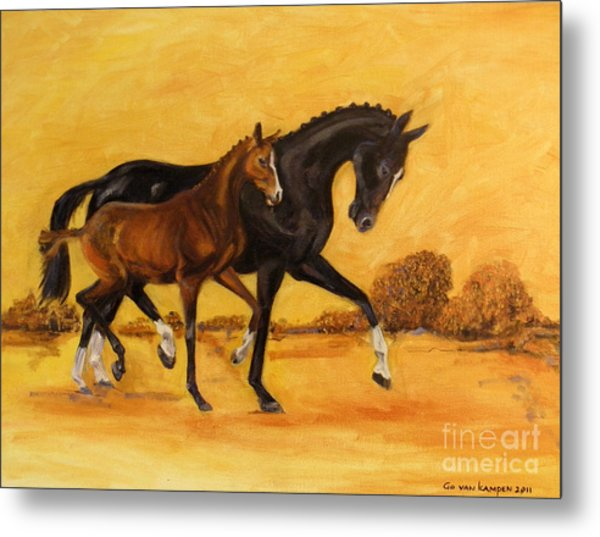 Horse - Together 2 Metal Print