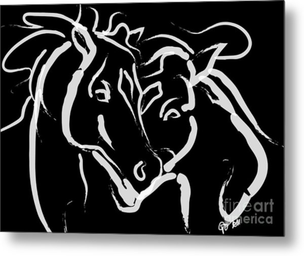 Horse- Together 5 Metal Print