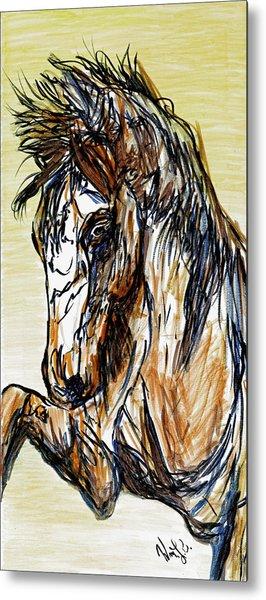Horse Twins II Metal Print