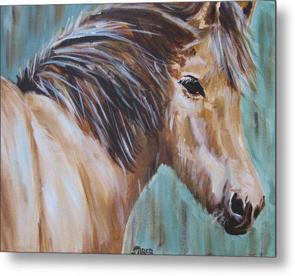 Horse Whisper Metal Print