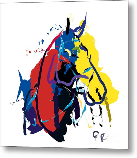 Horse- Zam Metal Print