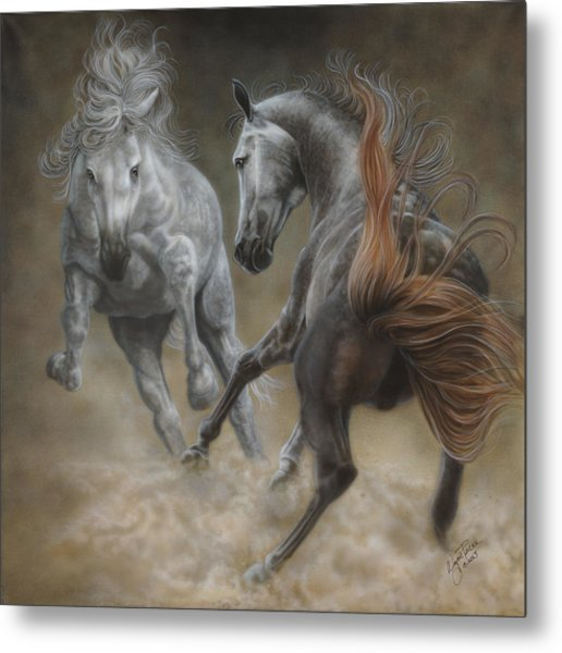 Horseplay II Metal Print